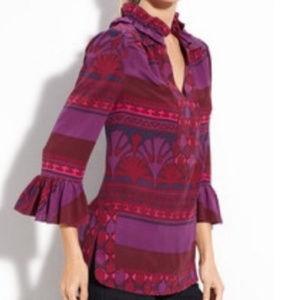 Tory Burch Pink/Fuschia/Purple  Silk Tunic Size 4